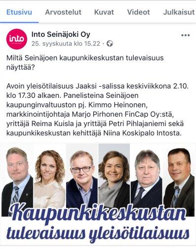 """Seinäjoen kaupunki tukee Kokoomuksen vaalityötä? – """"Sikamaista"""""""