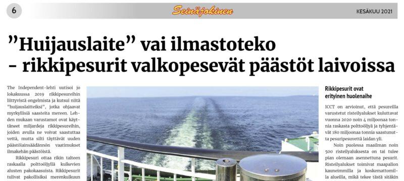 """Ilmastosyillä päästetään jokaisesta laivasta suoraan Itämereen 250 000 kiloa rikkiä – """"rautaputket syöpyvät vuodessa, kalat ja korallit kuolevat"""""""